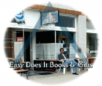 Easy Does It Books and Gifts store front on Broadway; Belmont, Long Beach, California